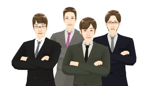 【MMDモデル配布】WEP式エキストラ(男子社員セット01)