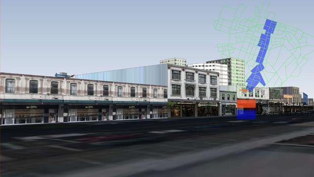 MMDオークランドが出来てきました。その45 メインストリート沿いのモデルが完成!
