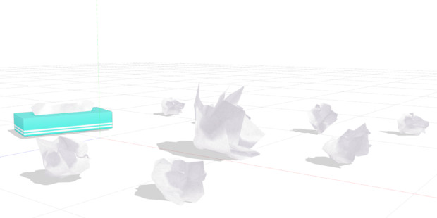 【MMD】くるめるティッシュセットver1_00【モデル配布】