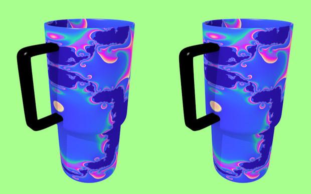 立体視画像50「フラクタルマグカップ」