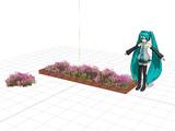 「コスモスの花壇と植え込み」UPしました。