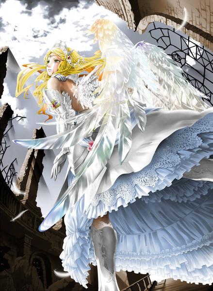 玻璃翼の天使 名無し Hiyo知己夕子ちきゆうこ さんのイラスト