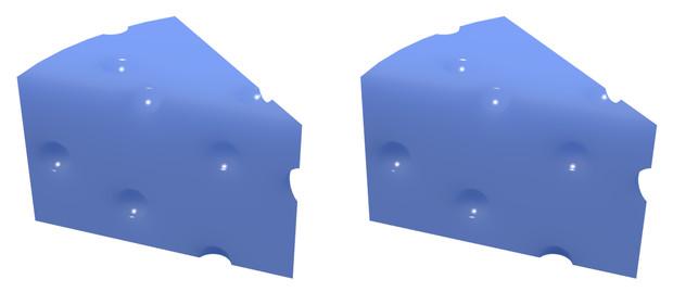 立体視画像58「ブルーチーズ」