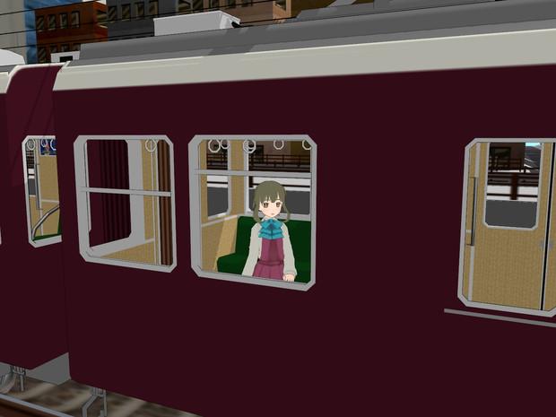 阪急電車に乗車中かも、です。
