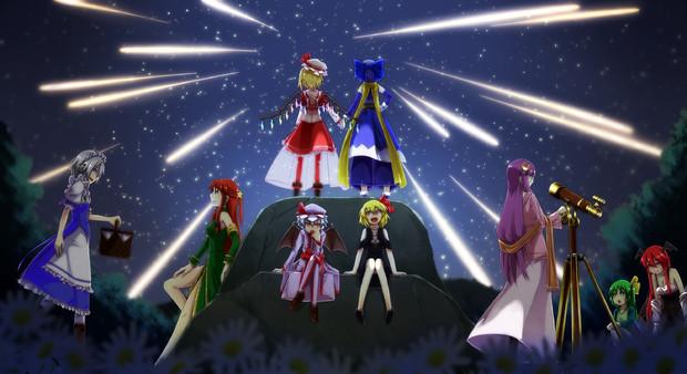 【紅白お絵かき合戦】夜空に浮かぶ星は一つ一つが人の夢【紅魔】