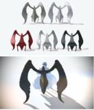 【MMDアクセサリ配布】翼の椅子