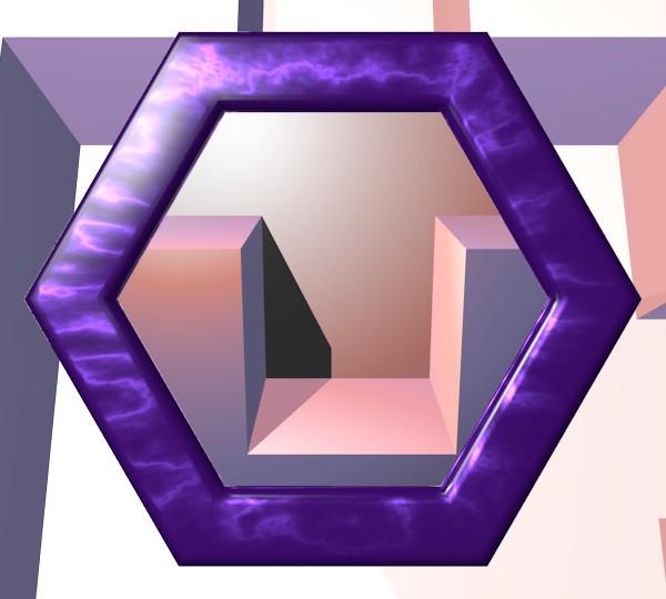 六角形の鏡10