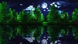 【MMDステージ配布】月夜の森 EE3【スカイドーム】