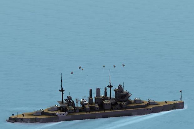 重巡洋艦ノーフォーク(HMS Norfolk)を建造してみた。