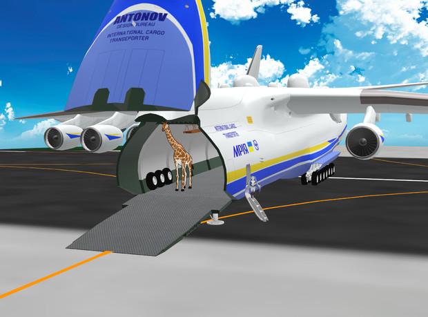 【MMDモデル配布】AN-225