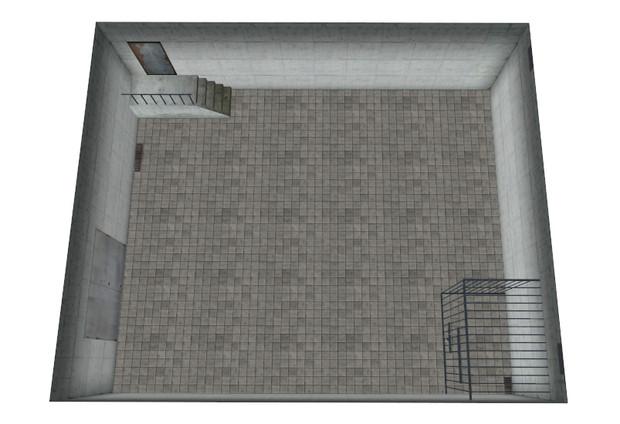 コンクリ壁の地下室
