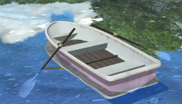 【MMD】池のボート【アクセサリ配布】