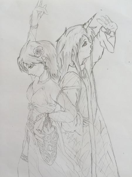 踊り子レナと召喚士ファリス