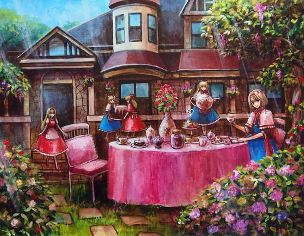アリスのお茶会2 タフト さんのイラスト ニコニコ静画 イラスト