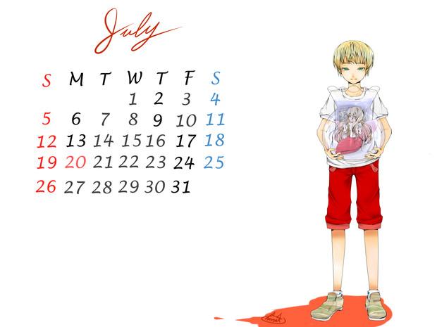 そういえば、7月カレンダー