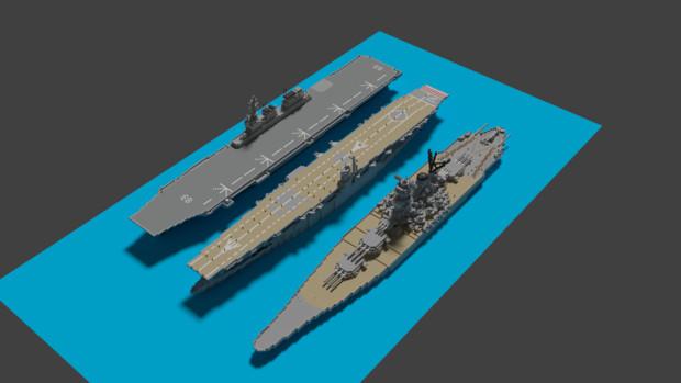 【Minecraft】護衛艦いずもと赤城と大和