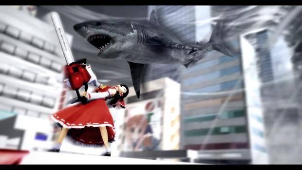 霊夢 vs 鮫