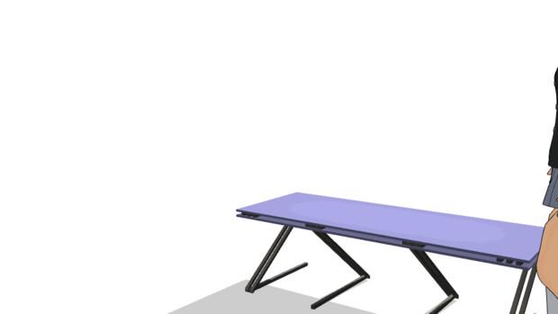 【MMD】モーション練習-座る【GIF】