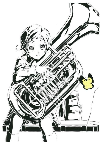 切り絵加藤葉月響けユーフォニアム Patata さんのイラスト