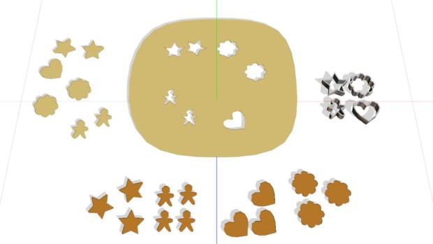 【MMD】クッキー作りセット【アクセサリ配布】
