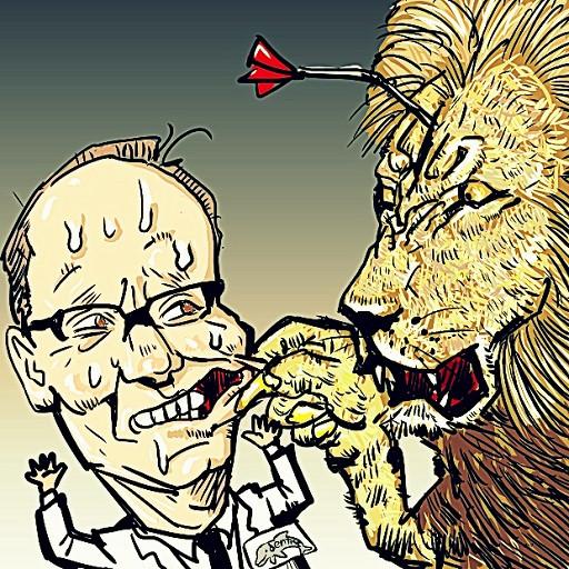 アメリカのハンター人気者のライオンを銃殺
