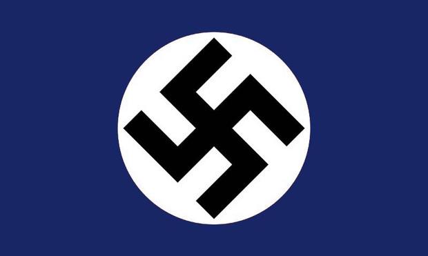 青黒色板ナチスドイツの旗
