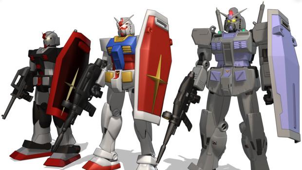 RX-78-1~3 ガンダムの進化【MMD】