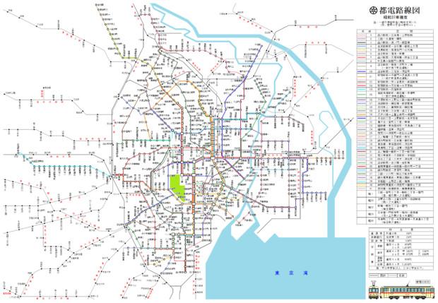 都電路線図(昭和37年)
