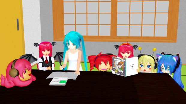 みんなで一緒にお勉強しました