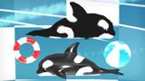 【MMDアクセ配布】シャチのぬいぐるみとフロート配布します