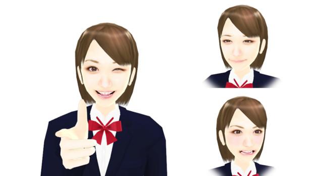 【MMDモデル配布】表情モーフ搭載エキストラ:WEP式HyperC子