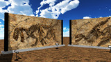 【MMDステージ配布】恐竜化石広場 ST02