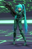 【第15回MMD杯Ex】Tda式改変スパルタン風ミクとアサルトライフル