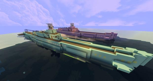 【マインクラフト】蒼き鋼のアルペジオ 霧の艦隊 イ400・イ402