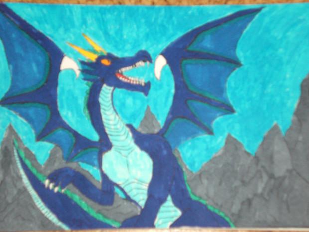 岩山の青き竜王