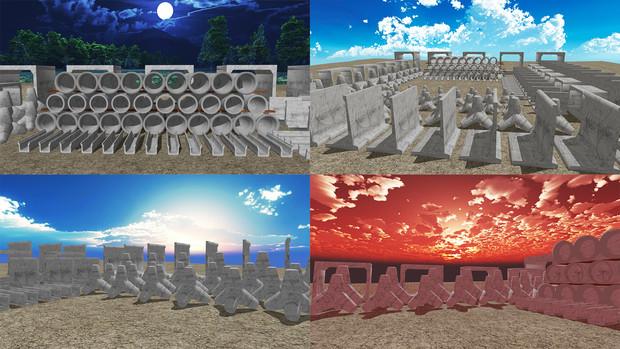 【MMDステージ配布】資材置き場 ST05