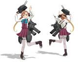 【モデル配布】秋雲艤装セット
