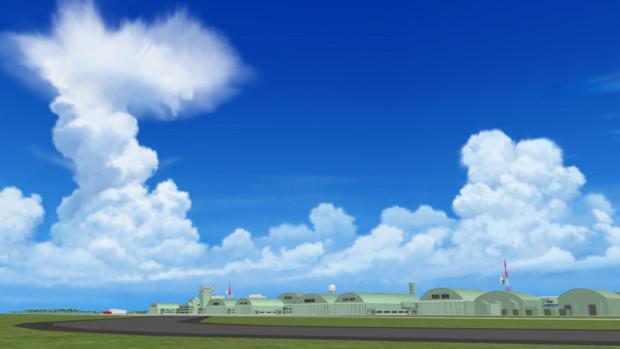 【MMDステージ配布】アニメの背景風スカイドーム9