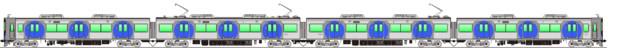 阪神5700系 側面イラスト