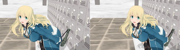 【MMD】恋愛シミュレーションゲーム アタゴル【立体視:交差法】
