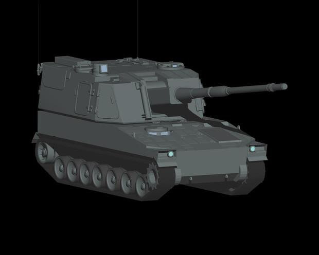 99式自走りゅう弾砲の作業工程3