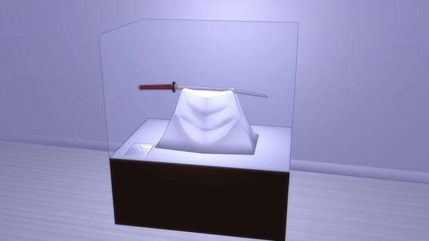 【配布再開しました】刀の展示ケース