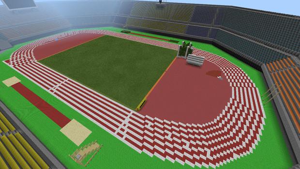 Minecraft Peで陸上競技場を作ってみた2 がく さんのイラスト