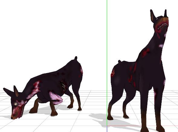 【MMD】 ゾン犬【モデル配布】