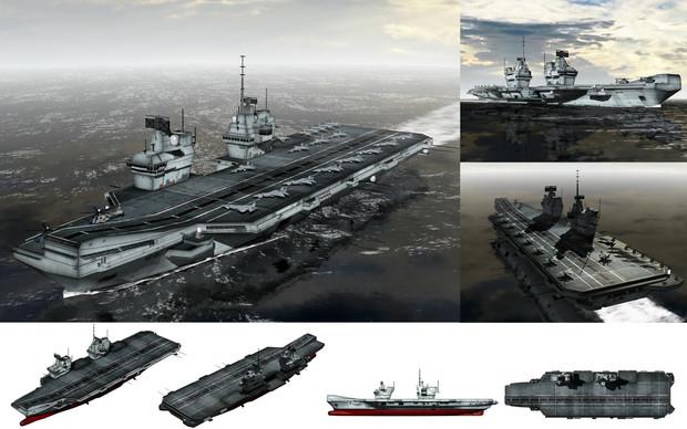 MMD用モブ航空母艦2015セット