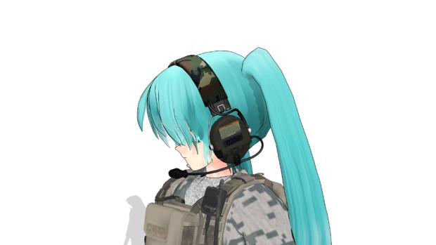 【モデル配布】軍用ヘッドセット
