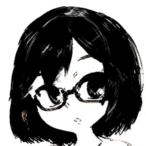 眼鏡っ娘アイコン(フリー
