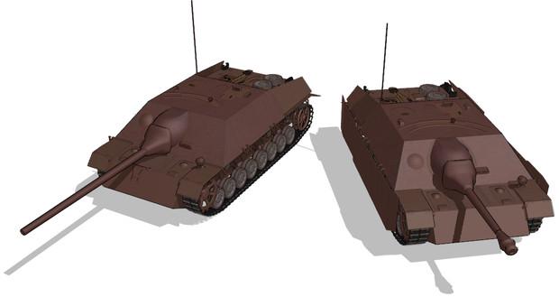 IV号駆逐戦車/70ラング【MMDモデル配布】