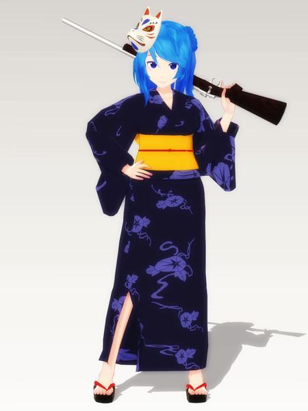 浴衣浦風 / あずお さんのイラスト - ニコニコ静画 (イラスト)