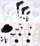 【MMDアクセサリ配布】白猫と黒猫のアクセサリーセット